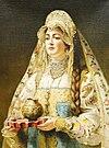 Konstantin Makovsky - woman in a Russian dress.jpg