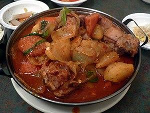 Dak-bokkeum-tang - Image: Korean.food Dakbokemtang 01