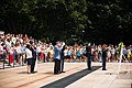 Korean War Veterans Association, Inc. President Larry Kinard and Ambassador of the Republic of Korea Ahn Ho-Young lay a wreath at the Tomb of the Unknown Soldier in Arlington National Cemetery (19843611669).jpg