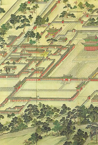 Donggwoldo - Image: Korean art Donggwoldo detail Changdeokgung Jinseonmun and its vicinity 01
