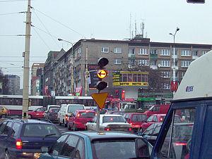 Road rage - Image: Korek Brama Portowa