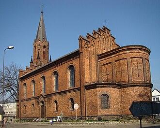 Czerwieńsk - Neo-Gothic church