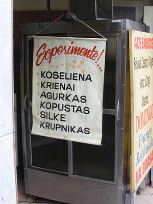 Lithuanian Brazilians -  Lithuanian food sold in the Lithuanian neighbourhood of Vila Zelina in São Paulo.