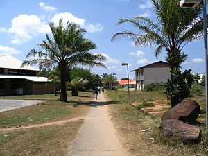 Kourou - A view of the allée du Bac, in Kourou