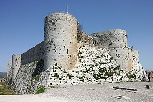 English: Southern part of inner wall of Krak d...