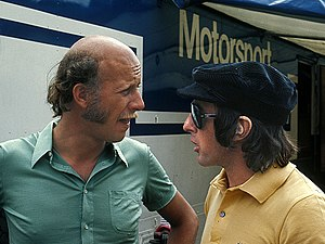 1973 Formula One season - Jackie Stewart (right) won his third Drivers' Championship, driving for Tyrrell.