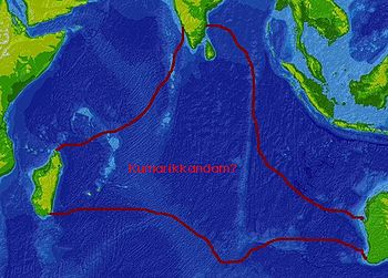 Topographic/bathymetric map of the Indian Ocea...