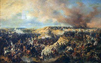 Battle of Kunersdorf - Alexander Kotzebue's depiction of the battle, 1848