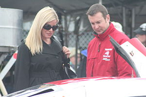 Kurt Busch - Busch with his former wife, Eva