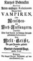 Kurtzes Bedencken Von denen Acten-maeßigen Relationen Wegen derer Vampiren, Oder Menschen- Und Vieh-Aussaugern 001.png