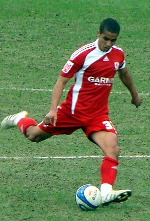 Kyle Naughton - Naughton playing for Middlesbrough in 2010
