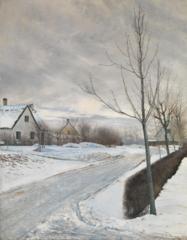 Road in the Village of Baldersbrønde (Winter Day)
