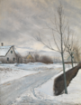 L.A. Ring, Road in the Village of Baldersbrønde (Winter Day), 1912, NG6658, National Gallery.png