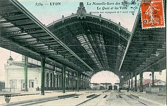 Gare des Brotteaux - Old photo of the station