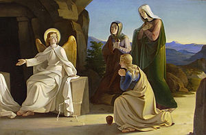 Ludwig Ferdinand Schnorr von Carolsfeld - The Three Maries at the Grave of Jesus, about 1835