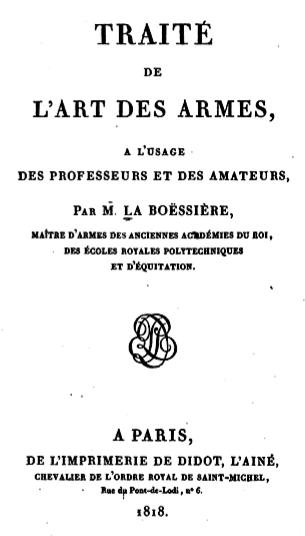 File:La Boëssière, Traité de l'art des armes, 1818, page de titre.tiff