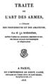 La Boëssière, Traité de l'art des armes, 1818, page de titre.tiff