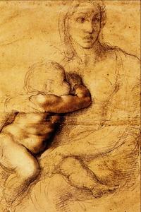 La Madonna che Allatta il Figlio - Michelangelo Buonarroti.png