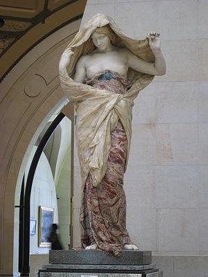 Nature Unveiling Herself Before Science - The original La Nature se dévoilant à la Science in the Musée d'Orsay
