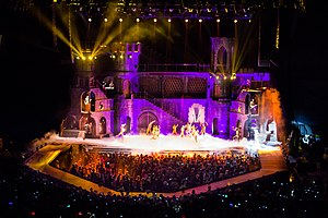 Born This Way Ball - The stage for the tour, displaying the medieval castle.