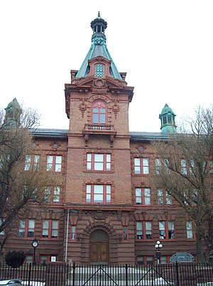 Lafayette High School (Buffalo, New York) - Image: Lafayette High School Entrance Dec 09