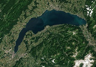 lake in Switzerland and France