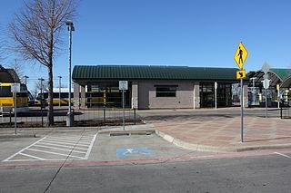 Lake June station DART light rail station in Dallas, Texas