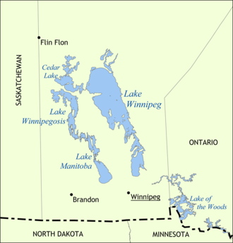 Lake Winnipeg -  Map