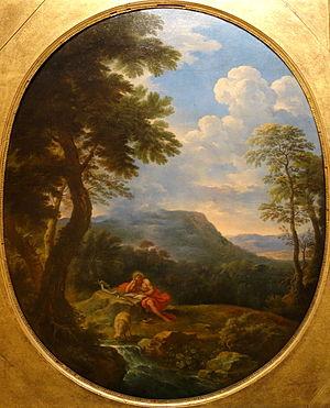 Carlo Antonio Tavella - Landscape with Saint John the Baptist