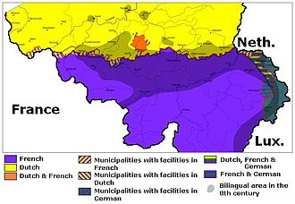 Low Dietsch dialects - Image: Languages in Belgium
