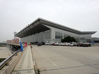 Lanzhou Zhongchuan International Airport - Existing terminal as seen from the south.