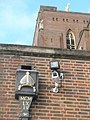 Latin muerals on the drainpipe at Guildford Cathedral - geograph.org.uk - 1153897.jpg