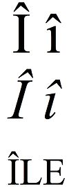 Latin small and capital letter i with circumflex.jpg