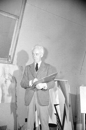 Lawren Harris - Lawren Harris in his Vancouver studio, circa 1944.