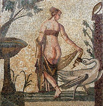 Leda and the Swan - A mosaic from Cyprus (c. 3rdC AD)