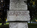 Leoben Donawitz - Denkmal gegen den Krieg von Fritz Wotruba - Inschrift III.jpg