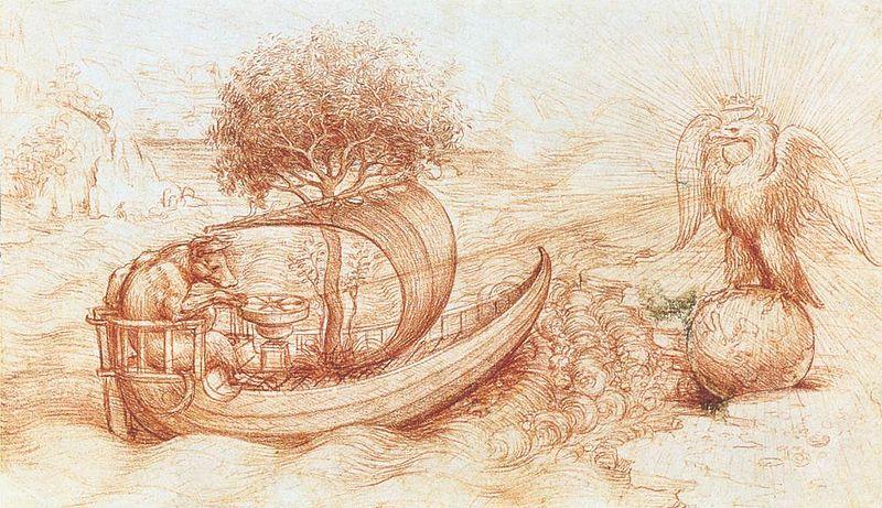 File:Leonardo da vinci, Allegory with wolf and eagle.jpg