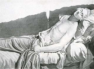 <i>The Last Moments of Michel Lepeletier</i> lost painting by Jacques-Louis David