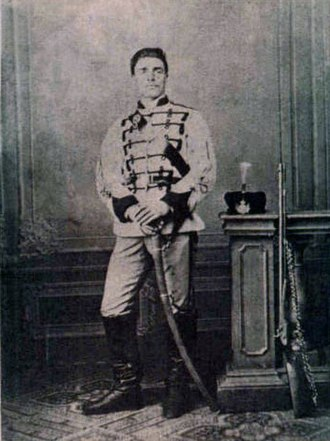 Vasil Levski - Levski in a First Bulgarian Legion uniform