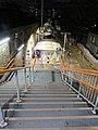 Leytonstone High Road railway station platform entrance steps 02.jpg