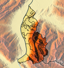 Liechtenstein location map Topographic.png