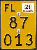 Liechtenstein moped plate.jpg