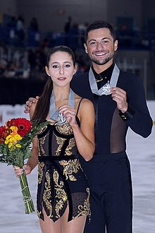 Lilah Fear and Lewis Gibson at the 2019 Autumn Classic International - Awarding ceremony.jpg