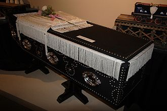 Gustav Koerner - Replica of the coffin of Abraham Lincoln, Museum of Funeral Customs, Springfield, Illinois, 2006.