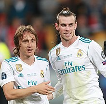 cdfba326481 Modrić (left) with Gareth Bale during the 2018 Champions League Final.