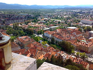 Trnovo District - View from Ljubljana Castle