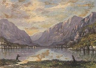 Llanberis lake and pass