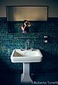 Lo specchio nel bagno nella palazzina degli ospiti - stabilimento ex ceramiche Vaccari.jpg
