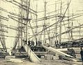 Loading lumber with chutes onto the deck of an unidentified sailing vessel, Puget Sound port, Washington, ca 1904 (HESTER 197).jpeg