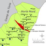 Localització d'Albalat dels Sorells respecte de l'Horta Nord.png